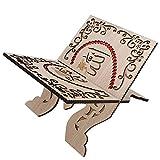 Rote Strasssteine Abnehmbare Koranhalter Dekoration Holz Retro Koran Stand Dekoration Koran Klappständer, Schnitzen Koran Bücherregal, für Home Decoration