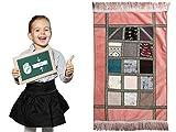 Imanpaper - Kinder Gebetsteppich Flicken Design - Muslimische Gebetsteppich Namaz-LIK Seccade, Gebets Matte | Salah Sejadah, Islamic Prayer mat Rug, für das Gebet im Islam, 0,7 x 0,48 m