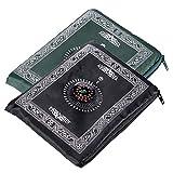 Anlising Tragbar Licht Islamische Reisegebetsteppich, Kompass Taschenformat Tragetasche und Kompass Pray Teppich Tragbar Polyester Wasserdicht Material 100 * 60 cm (2 Packungen)