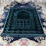 Sincere Moslemischer Anbetungsteppich Gebetsteppich Dick Groß Super Weich Komfort Schneiden Islam Gebet für Männer Kinder Und Frauen (80 X 125 cm Grün)